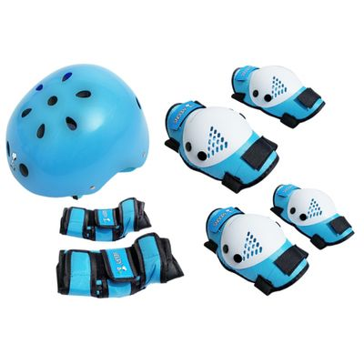 capacete-kit-de-protecao-snoopy-bel-sports-bel-fix-azul