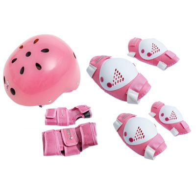 capacete-kit-de-protecao-snoopy-bel-sports-bel-fix-rosa