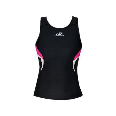 ld-sports-Regata-Feminina-para-Triathlon-Hammerhead-Short-Distance-Preto-Rosa-Branco