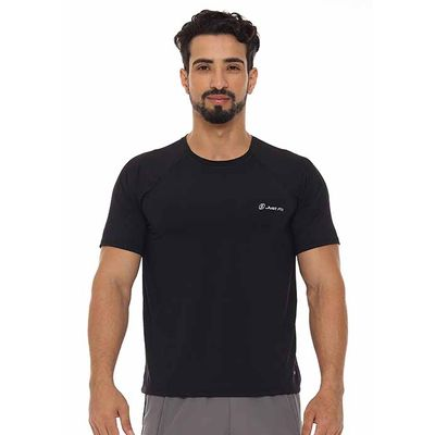Camiseta-masculina-basic-Just-Fit-Masculino-Preto-M