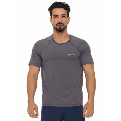 Camiseta-masculina-basic-Just-Fit-Masculino-Grafite-G